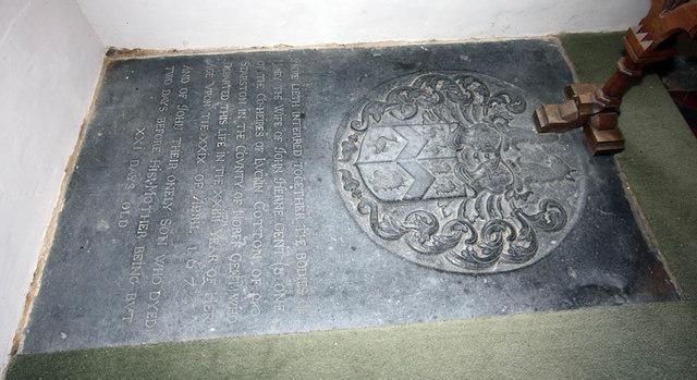St Mary, Arminghall, Norfolk - Ledger slab