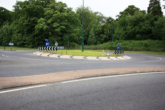 Roundabout near Skelton Castle