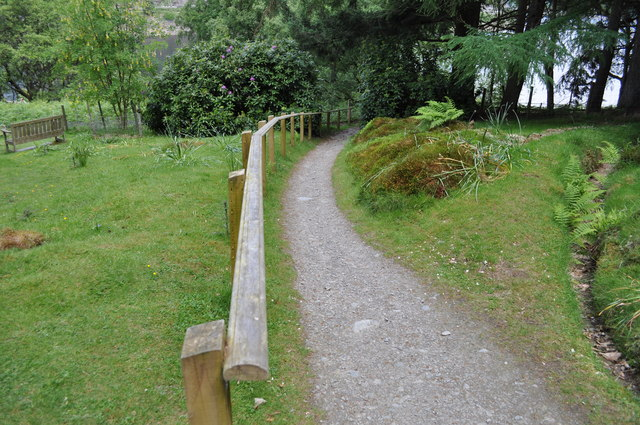 Looking down the path from Nantgwyllt Church