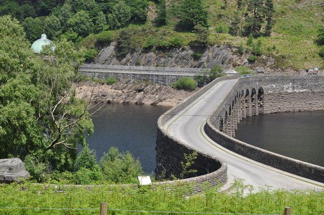 Looking across the dam