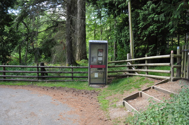 Telephone box in the Elan Valley