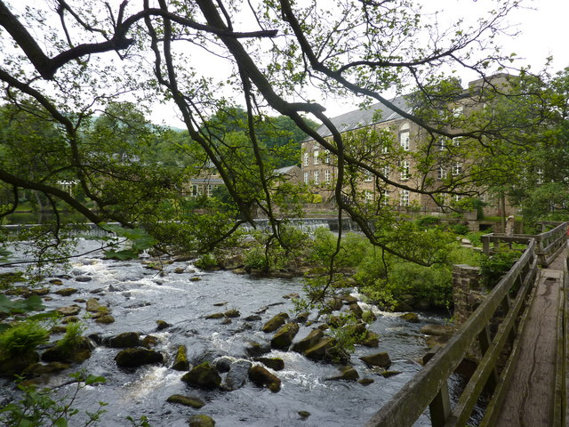 Footbridge over the Derwent