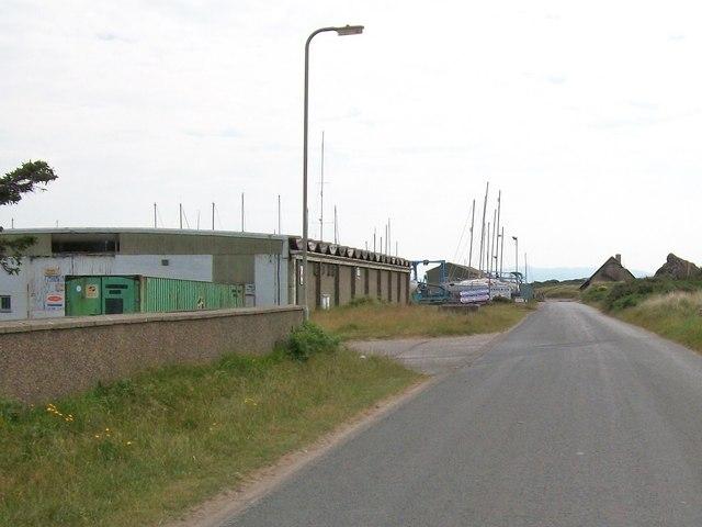 Factory building near the Pwllheli Marina
