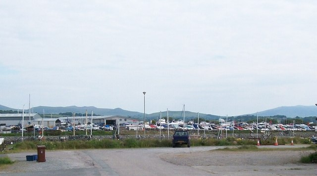 Dickies Boat Yard from the south side of Afon Rhyd-hir