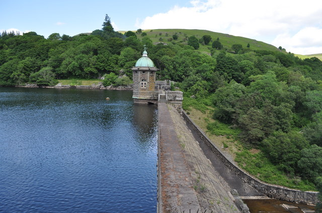 Looking across the dam