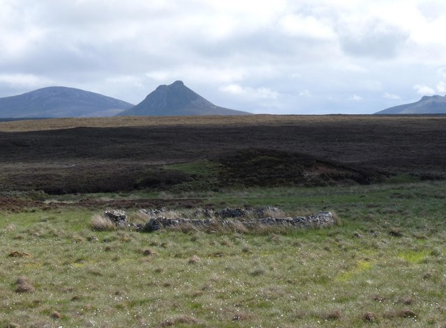 Sheepfold near Overcaig Burn