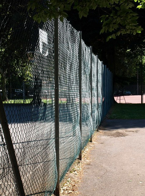 Sunlight on fence, Upton Park