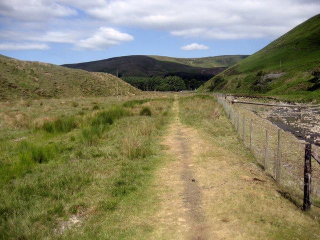 Path beside Langden Brook
