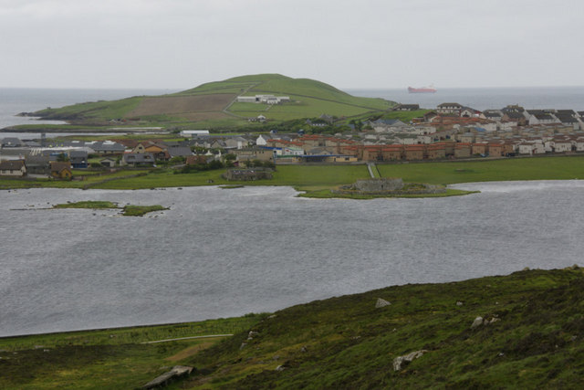 Loch of Clickimin from Staney Hill Road, Lerwick