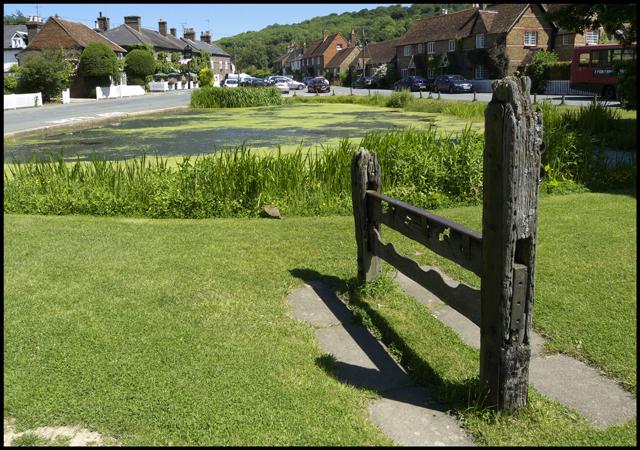 The Stocks and Pond, Aldbury