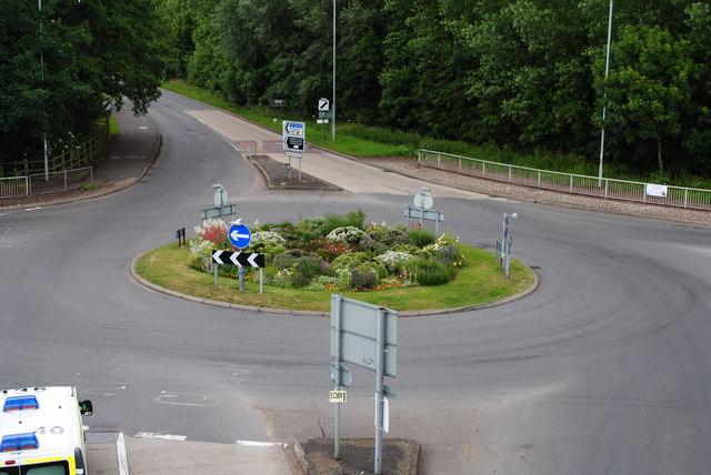 Floral roundabout