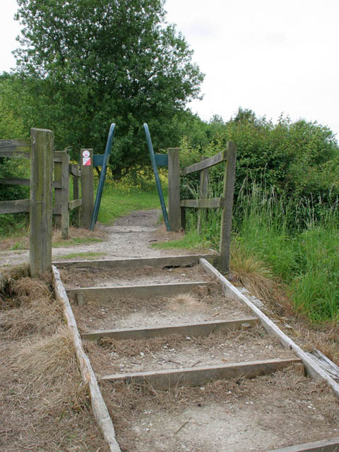 """Metal squeeze """"stile"""", Pools Brook Country Park"""