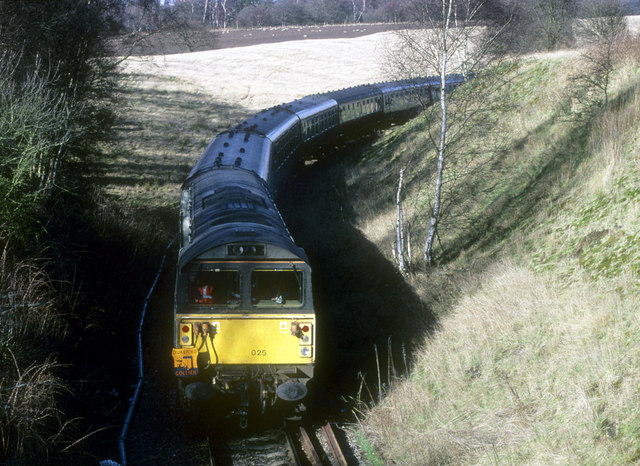 Special charter train visiting Thoresby