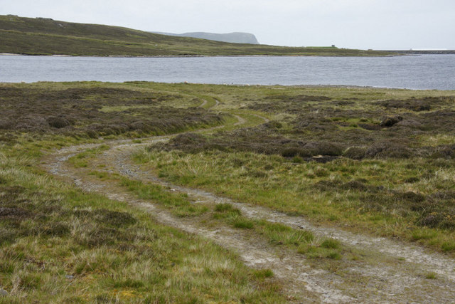 Track beside Sandy Loch reservoir, Lerwick