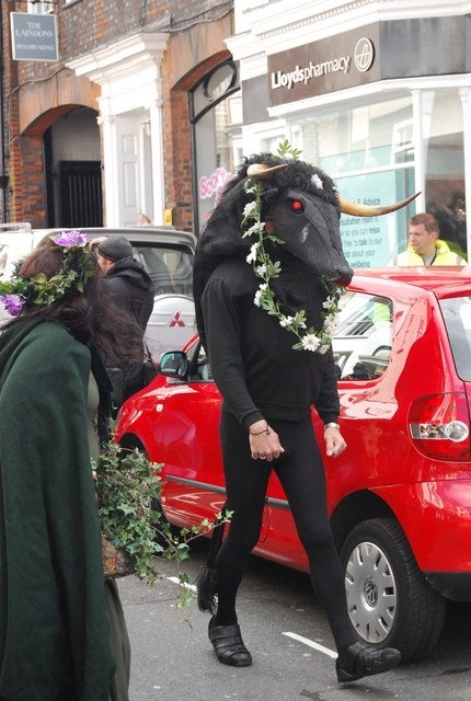 Jack in the Green Festival 2010 - a minotaur