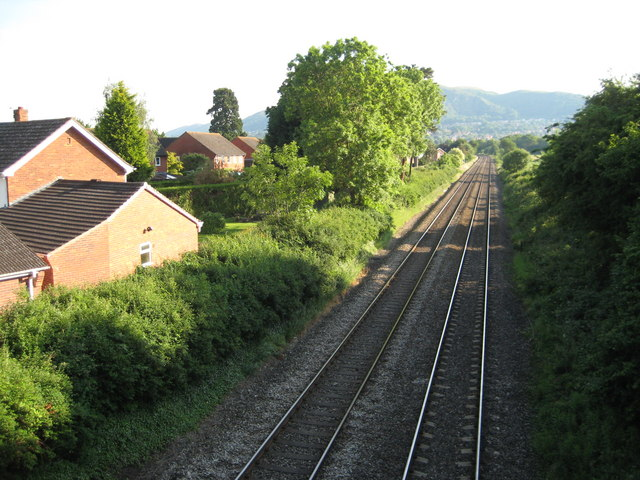 Worcester to Hereford railway line