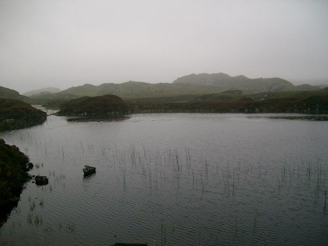 Unnamed, weedy lochan near Loch Crocach