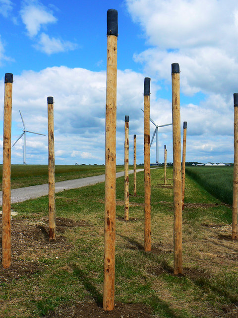 Wind Sound sculpture, Westmill Wind Farm, Watchfield