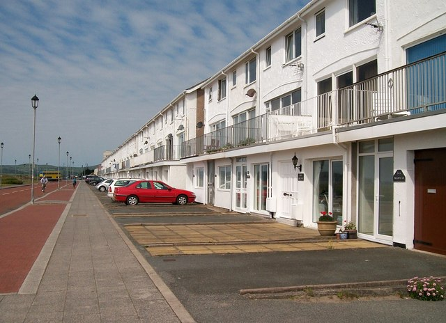 Modern town houses on the promenade