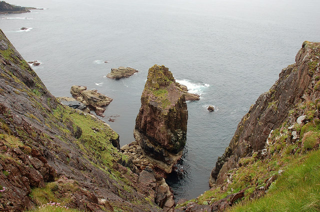 Smaller sea stack, Point of Stoer