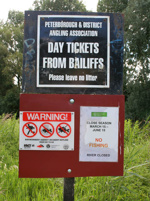 Notices by the River Nene