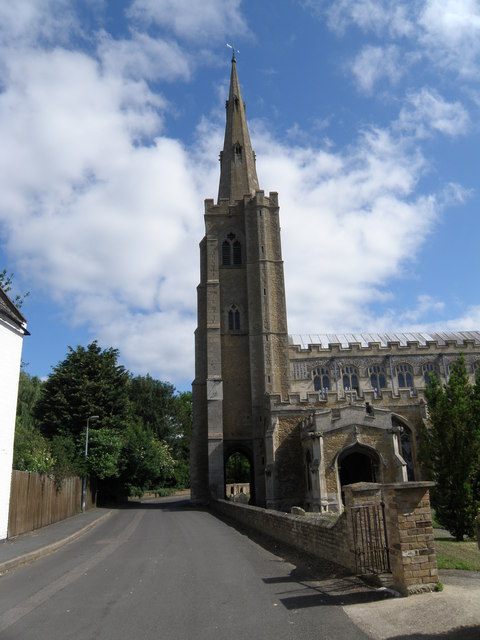 Bell tower and spire of St Wendreda's