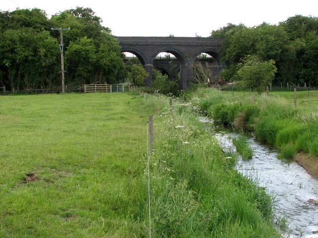 Railway bridges east of Saxby Junction