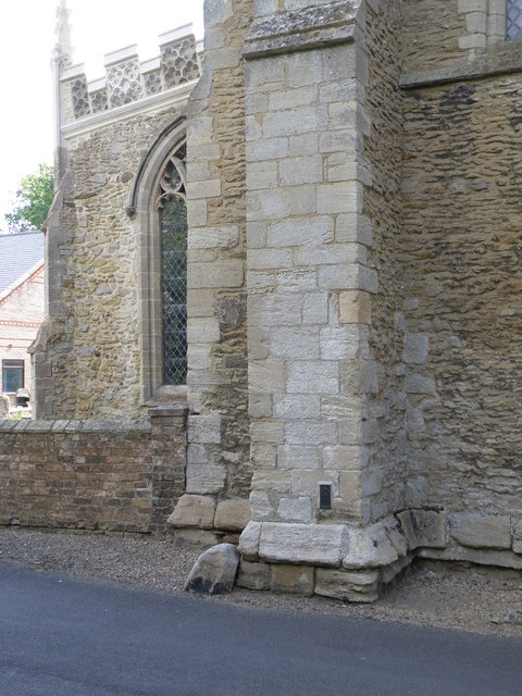 Buttress wall on St Wendreda's