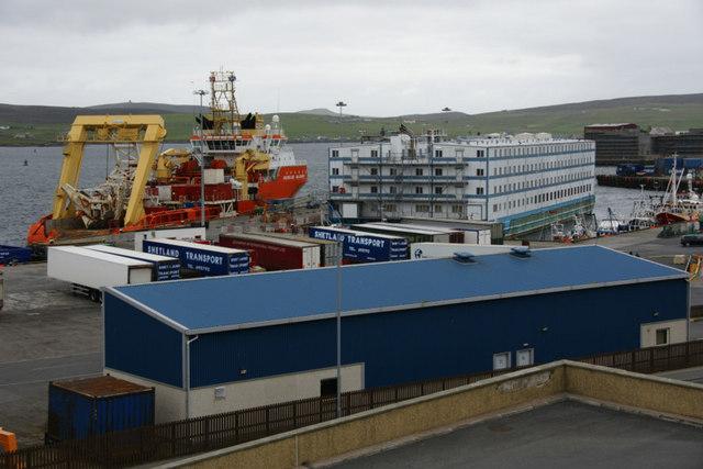 Flotel in Morrison Dock, Lerwick