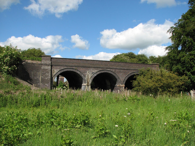 Railway bridge east of Saxby Junction