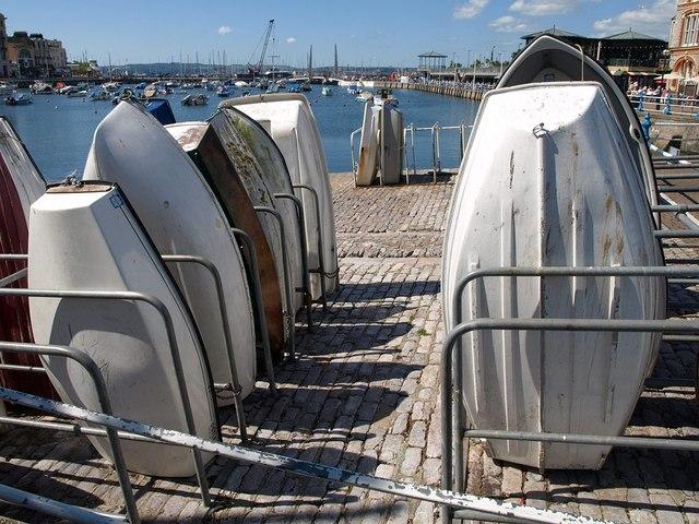 Boats on the slipway, Torquay