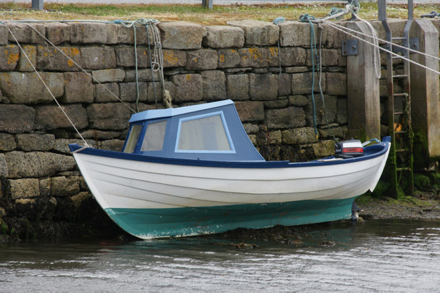 Small boat at Skipidock, Lerwick