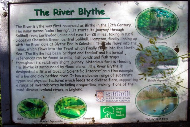 Information board for the River Blythe