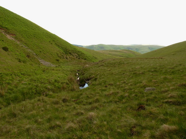 High up the Nant Gwenion