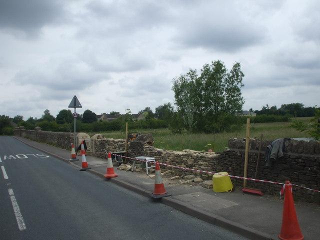 Wall repair, Shipton-under-Wychwood