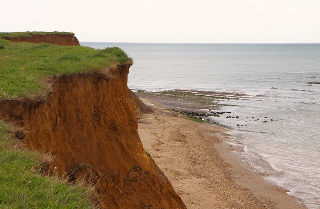 Earthen cliffs at Hanover Point
