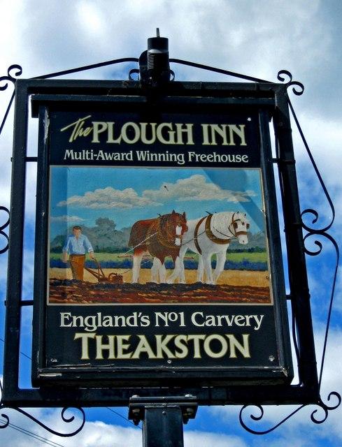 The Plough Inn (pub sign), Cleobury Road
