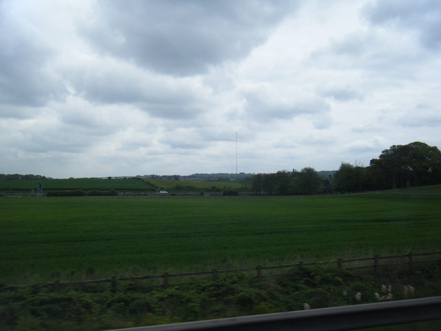 View across field from M6 Toll to A38