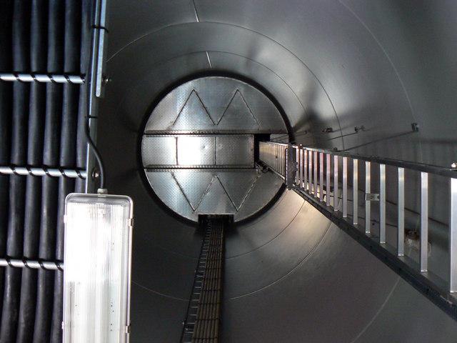 Inside Turbine 2, Westmill Wind Farm, Watchfield