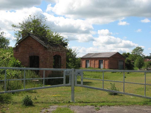 Edmondthorpe & Wymondham Station goods yard