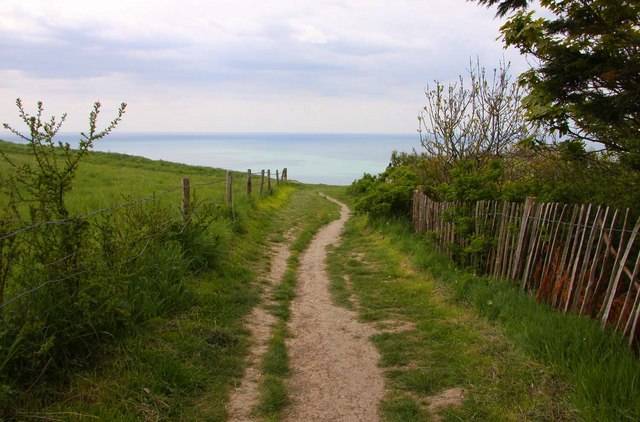 The coastal path at Blackgang