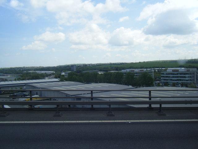 Crossways development from QE2 Bridge