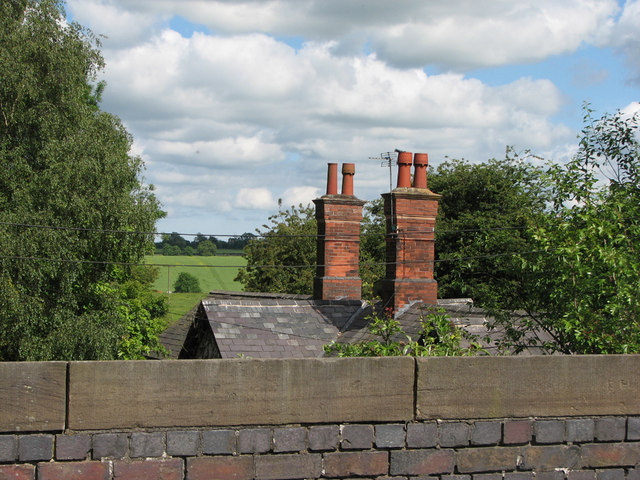 Chimney stacks on the station building