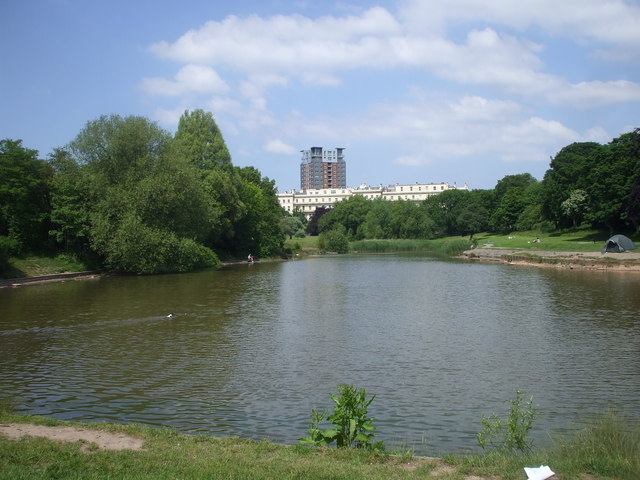 The lake in Princes Park, Liverpool