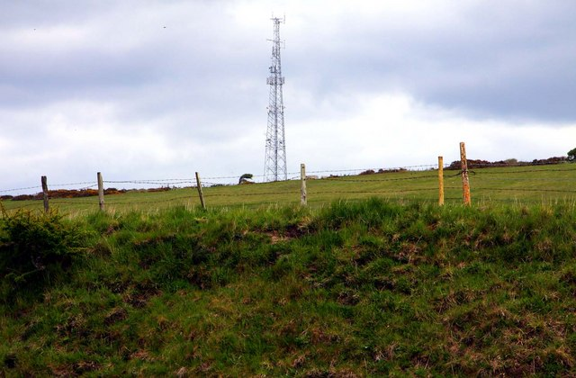 Mast on St Catherine's Hill