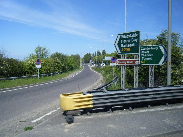 Signs at Brenley Corner junction