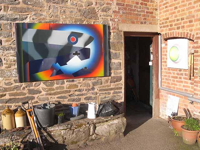The back door at Maesmawr