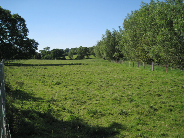 Meadow between a brook and the railway