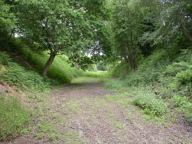 Lambs' Green, trackbed