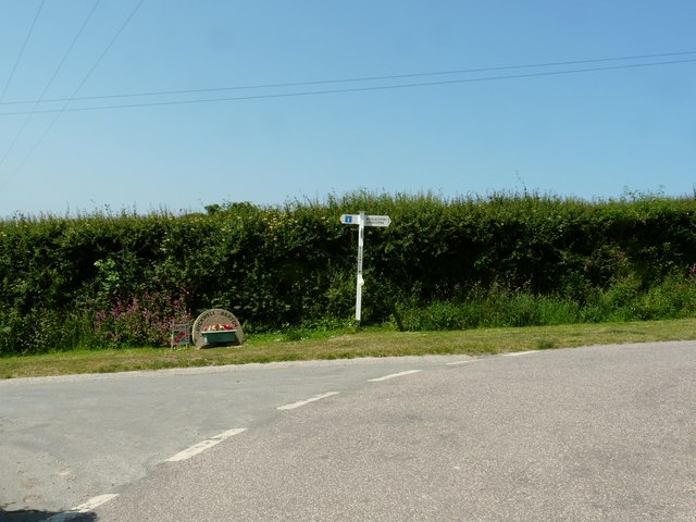 Pickwell Cross near Pickwell Barton